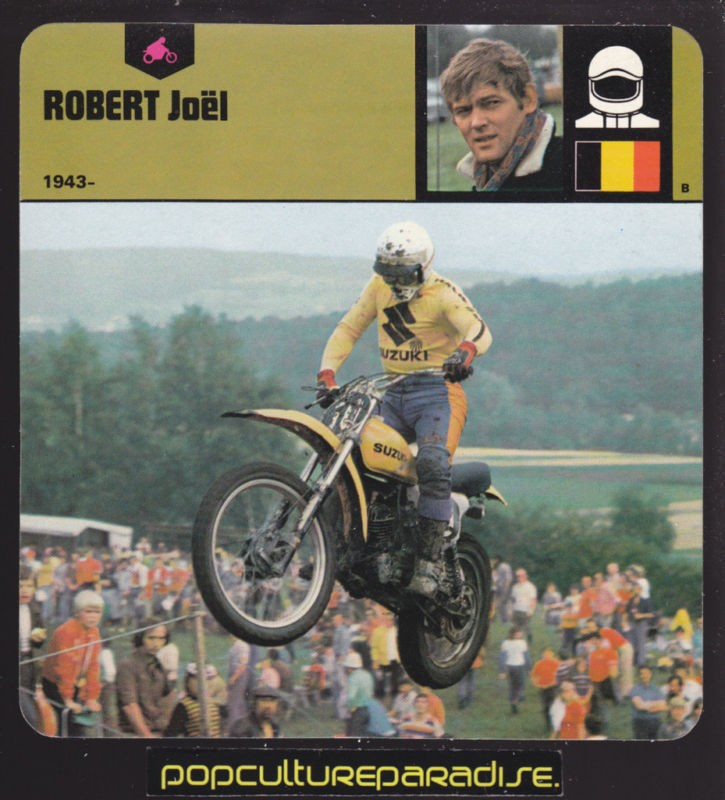 Joel Robert Motocross Suzuki Motorcycle Picture Card On Popscreen