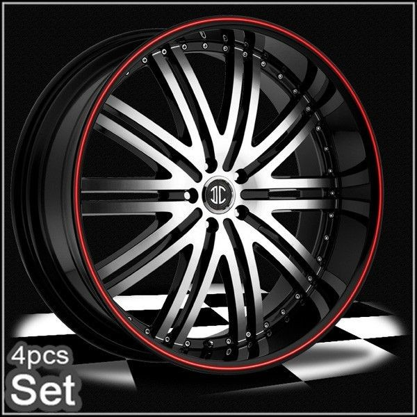 22inch for land range rover camaro wheels rims red ring