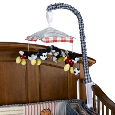 Mickey Mouse Sports Nursery Musical Baby Boy Crib Mobile Kidsline