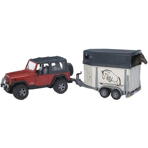 Bruder Jeep Wrangler with Horse Trailer