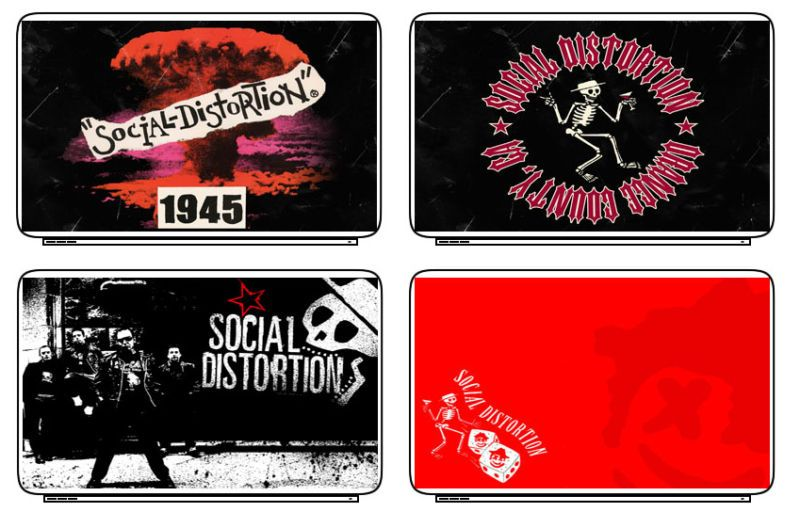 Music Social Distortion Laptop Netbook Skin Decal Cover