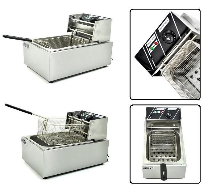 Stainless Steel Commercial Electric Fryer Deep Fryer
