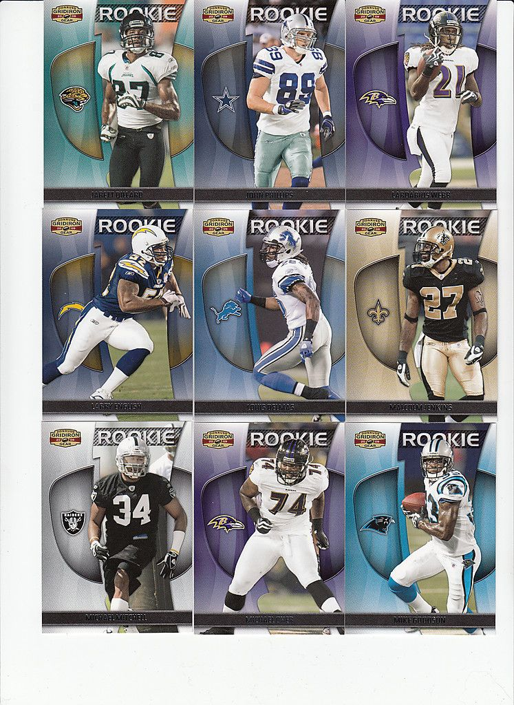 2009 Gridiron Gear Football Michael Oher SP RC 176 Ravens 999
