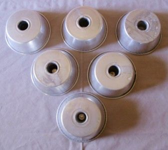 Mini Aluminum Angel Food Bundt Cake Pans Jello Gelatin Molds