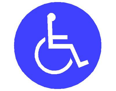 Handicap round circle vinyl decal sticker car window body etc