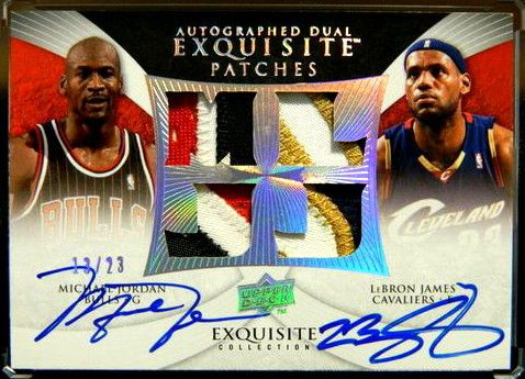 Dual Auto Jersey Patch D 13 23 Michael Jordan Lebron James BGS