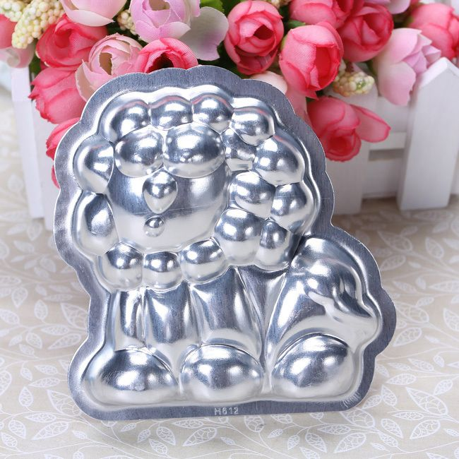 Aluminum 3.54 Cake Pan Jello Pudding 3D Lion Mould Mold Tin DIY Tools