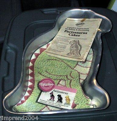 Dinosaur Cake Pan mold Used (With Instructions) buy now & have for