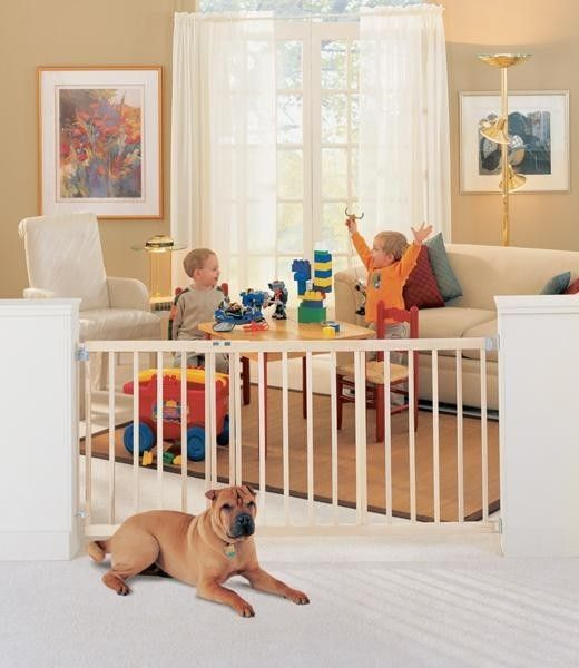 North States Extra Wide Stairway Swing Dog Pet Gates