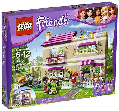 NEW NIB LEGO Legos Friends Olivias House 3315 Stephanie Ella Theresa