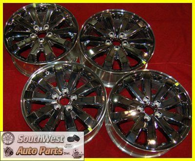 10 11 FORD EDGE 18 CHROME CLAD TAKE OFF WHEELS FACTORY OEM RIMS 3673