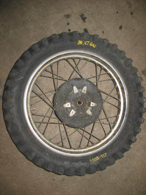 Rear Wheel Tire Rim Hub Yamaha XT600 1990